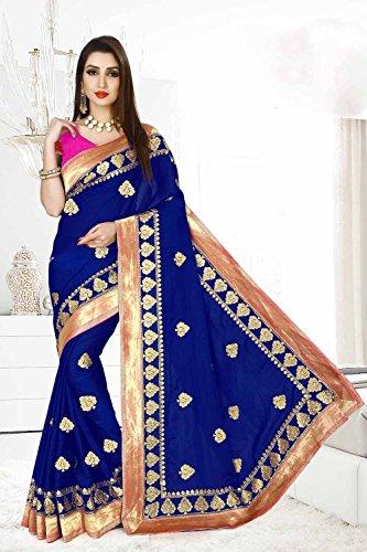 15 Facioun Traditional Women Sari for Wear Party Wedding Sarees Blue Designer Da Indian w7dq1w4