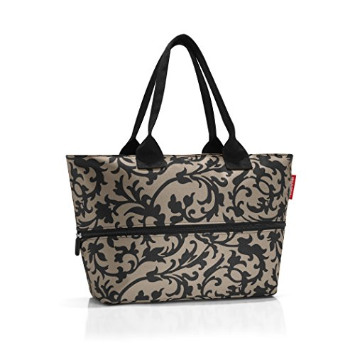 reisenthel Shopper E1, Expandable 2-in-1 Tote, Converts from Handbag to Oversized Carryall, Baroque Taupe (Large Tote Expandable)