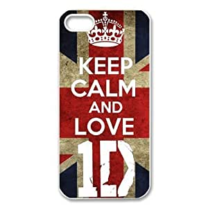 Custom Your Own Personalised Hard Keep Calm And Love One Direction 1D iPhone 5 Cover, Snap On Keep Calm And Love One Direction 1D iPhone 5 Case