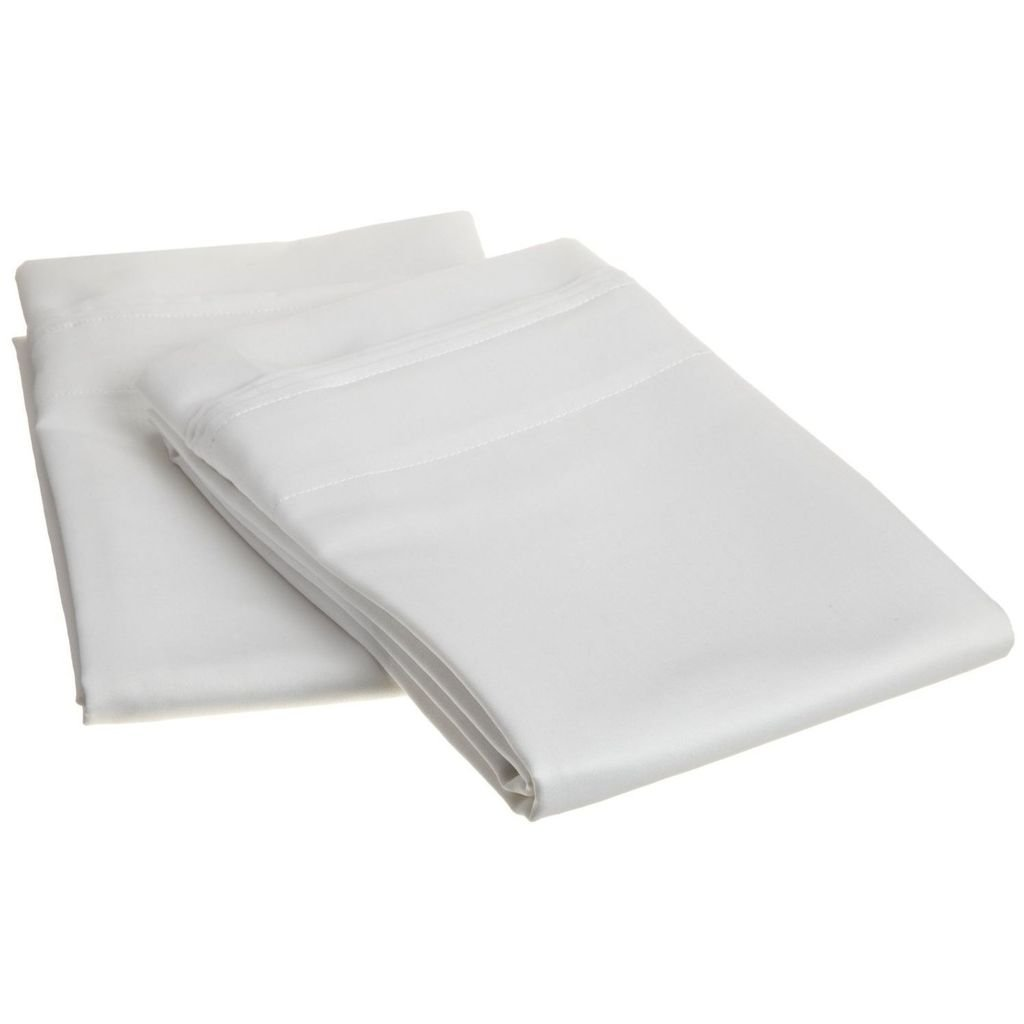 1000 Thread Count 100% Egyptian Cotton, Single Ply, King 2-Piece Pillowcase Set, Solid, White