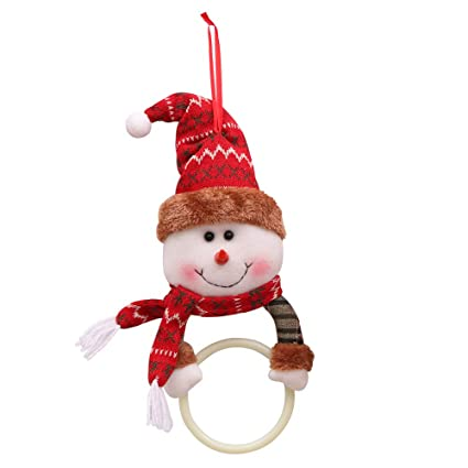 jpjbox Navidad Decoraciones Navidad Ropa servilleta círculo casa Colgante Toalla Anillo Creativo Vestido de Papá Noel