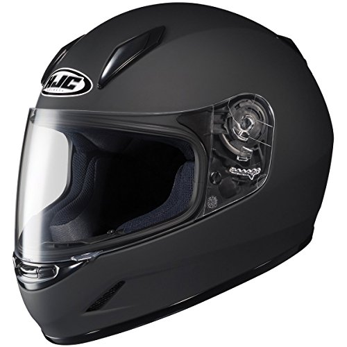 HJC Solid Youth Boys CL-Y Sportsbike Motorcycle Helmet - Matte Black / Large