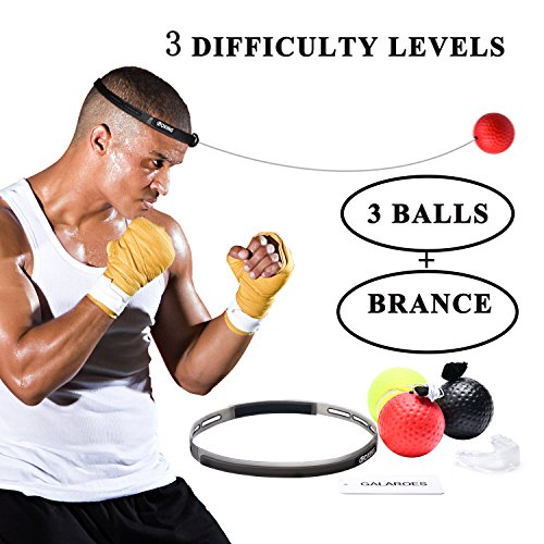 GALAROES Boxing Reflex Ball for Improving Speed Reactions and Hand Eye Coordination,Boxing Punch Equipment for Boxing and Other Combat Sports Revolution Training and Fitness by GALAROES