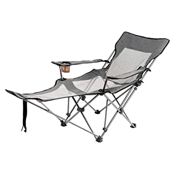 Cool Amazon Com Portable Folding Camping Lounge Chair Heavy Duty Unemploymentrelief Wooden Chair Designs For Living Room Unemploymentrelieforg