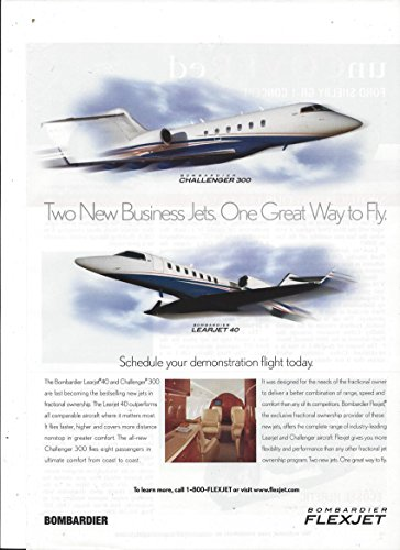 magazine-ad-for-flexjet-bombardier-challenger-learjet-great-way-to-fly