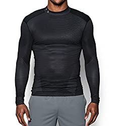 Under Armour Men's Coldgear Armour Sublimated Compression Mock, Blacksteel, Large