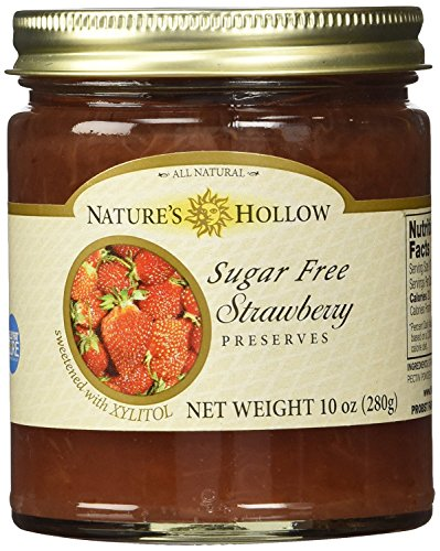 - Nature's Hollow Sugar-Free Strawberry Jam Preserves, 10 Ounce