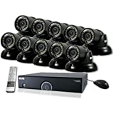 REVO America R165T10G-4T 16 Ch. 4TB 960H DVR Surveillance System with 10 700TVL 100 ft. Night Vision Mini Turret Cameras