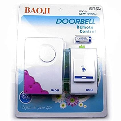 KOLD FIRE Koldfire Baoji Cordless Wireless Calling Remote Door Bell For Home Shop Office (Multi-Design & Multi-Colour)