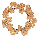 Country House Burlap Daisy with Buttons Primitive Wreath (10'')