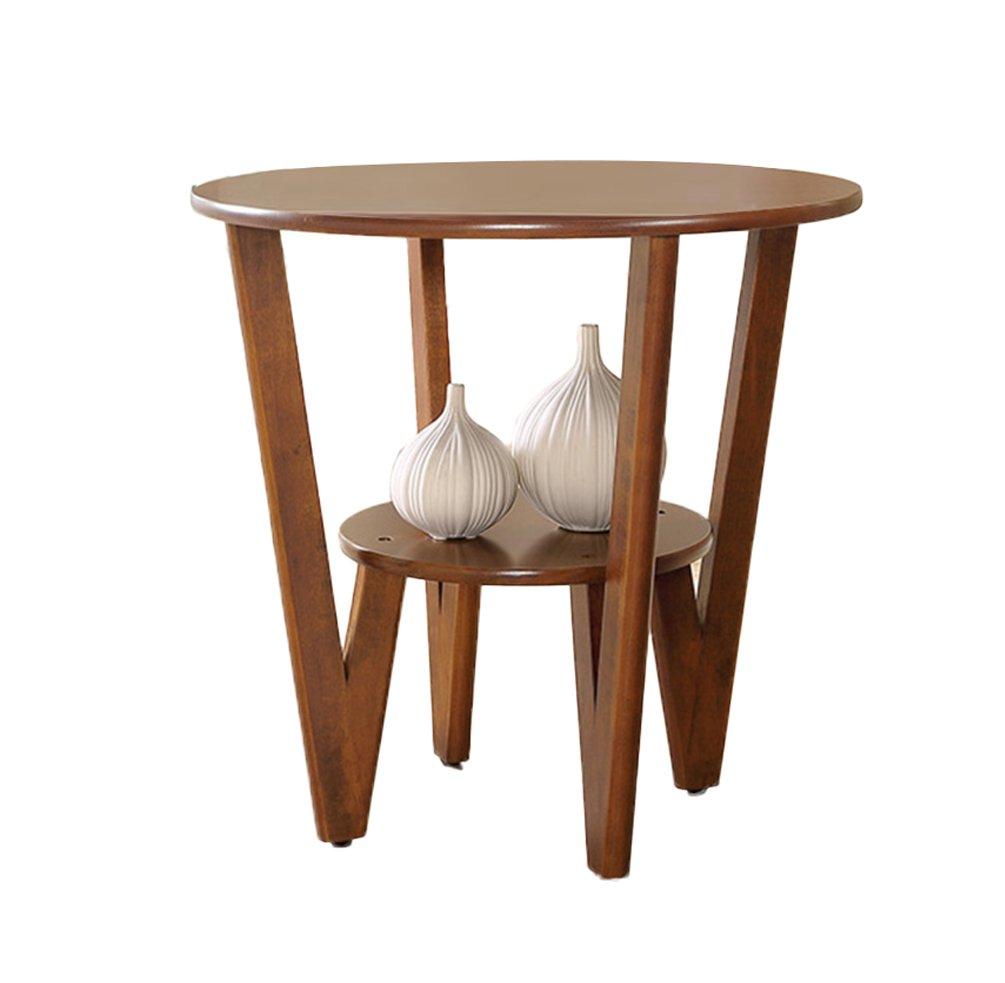 CSQ リビングルーム小さなコーヒーテーブル、クリエイティブなソリッドウッドソファテーブルサイドテーブルいくつかのサイドベッドサイドテーブルリビングルームの装飾小さなラウンドテーブル (色 : #1, サイズ さいず : 60*58CM) B07DZL5Y24#1 60*58CM