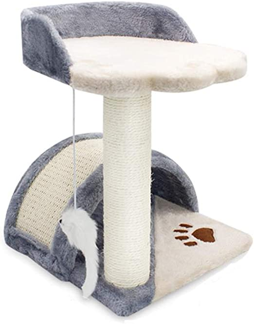 CAT-JXW Árbol para Gatos Grandes Arañazo Juguete Trepar Songmics Rascador Mascotas Escalador La Casa De Gato Star Sisal Juguetes Songmics para Mascotas,Gray(C): Amazon.es: Hogar