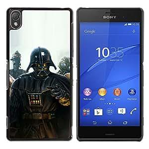iKiki Tech / Estuche rígido - Darth Vader Pintura - Sony Xperia Z3