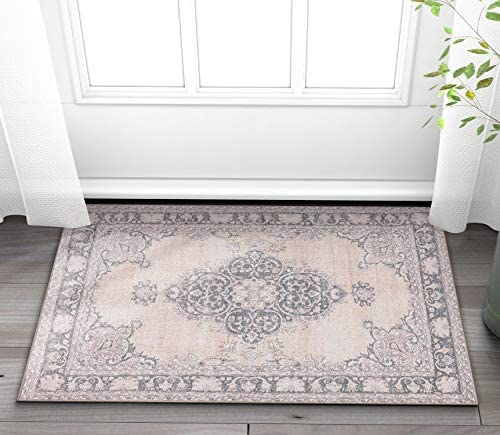 Well Woven Nile Tarifa Vintage Bohemian Medallion Beige Machine Washable Area Rug, 2 6 x 3 9
