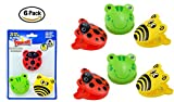 6 Animal Spring Loader Bag Sealer. Power Clips Plastic Novelty Bag Clips. Frog, Ladybug, Bumble Bee Kitchen Set.