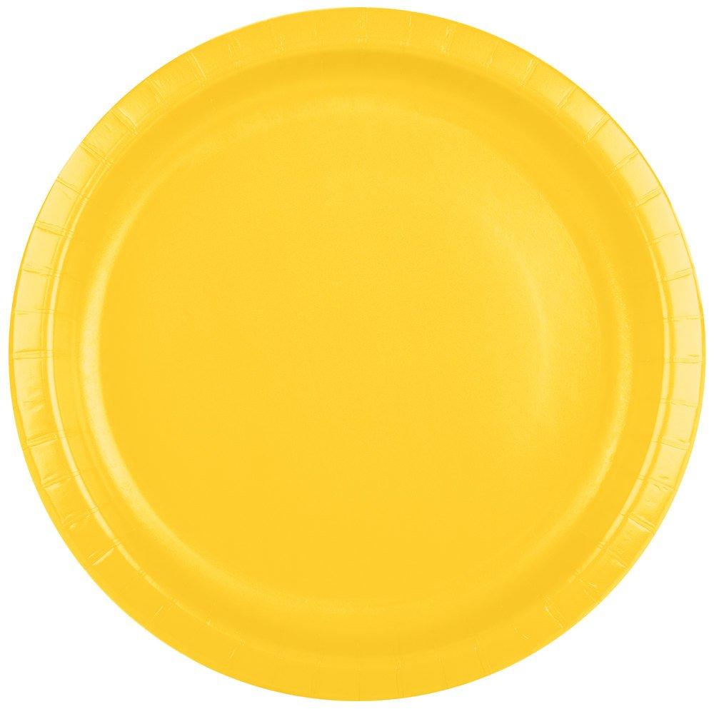 Creative Converting 501021B 10'' School Bus Yellow Paper Plate - 24/Pack