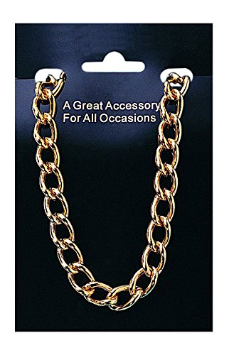 Amazoncom Costume Culture Mens Gold Pimp Necklace 24 Inch Gold