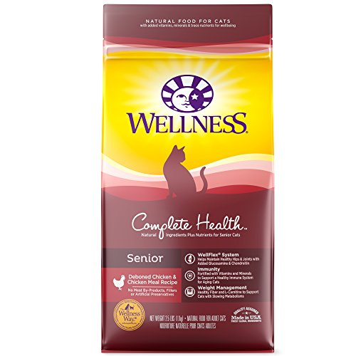 Wellness Complete Health Natural Dry Senior Cat Food, Chicken, 2.9-Pound Bag