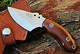Cheap DKC Knives (5 6/18) DKC-89-CS VORTEX Fixed Hunting Skinner Knife Carbon Steel Mahogany Micarta 6″ Long, 3″ Blade 6.7oz