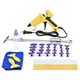 HOTPDR Paintless Dent Repair Tool Auto Body Puller Kit Removal Tools Silde Hammer For Car Hail Damage And Automotive Door Dings Repair with Hot Melt Glue Gun PDR Tools (40 Pcs)