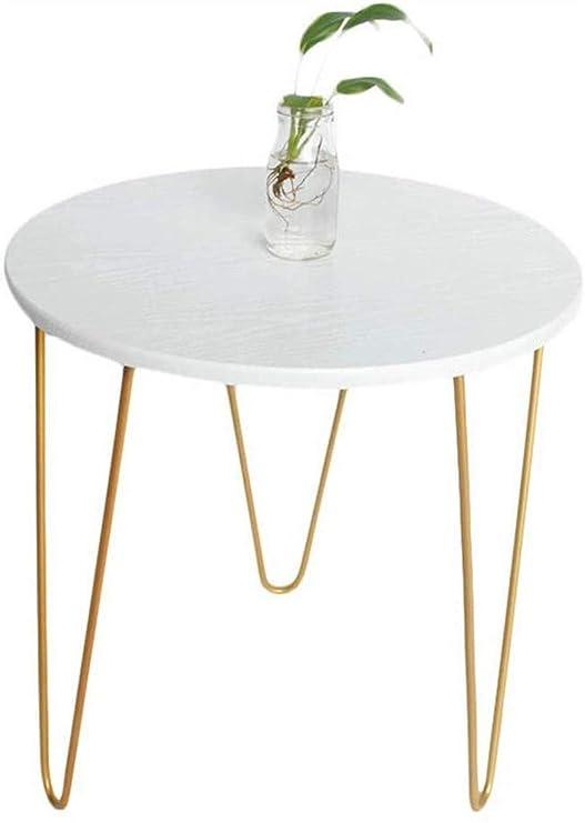 Simple pequeña Mesa de café pequeña Mesa Redonda de Oro Patas de ...