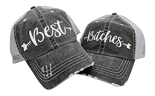 Loaded Lids Women's Best Bitches Bling Baseball Cap Bundle With Arrow Design ()