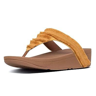ffe19da82 Amazon.com | FitFlop Lottie Fringe Women's Sandal | Flip-Flops