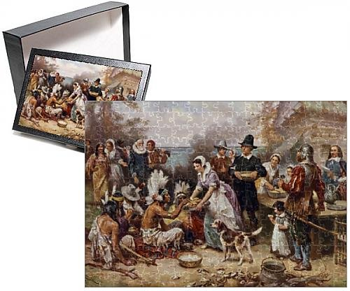 Photo Jigsaw Puzzle of The first Thanksgiving circa 1621 - 252 Puzzle Pieces