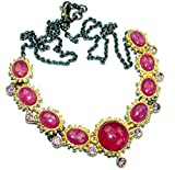 SilverFury Ruby Women 925 Sterling Silver Necklace - FREE GIFT BOX