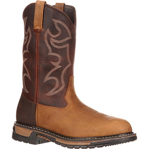Rocky Men's Original Ride Bridal/Round Toe-M, Tan and Bridle Brown, 8 M US (Boots Rocky Roper)