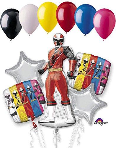 11 pc Power Rangers Ninja Steel Balloon Bouquet Party Decoration Birthday Red