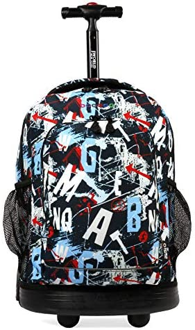 J World New York Sunny Rolling Backpack