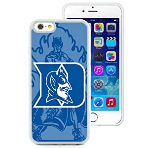 Fashionable And Unique Designed With NCAA Atlantic Coast Conference ACC Footballl Duke Blue Devils 7 Protective Cell Phone Hardshell Cover Case For iPhone 6 4.7 Inch TPU Phone Case White