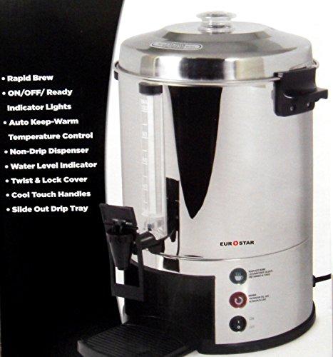 (Eurostar ES100 100-Cup Stainless Steel Coffeemaker)