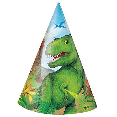 Dinosaur Party Hats, 8ct