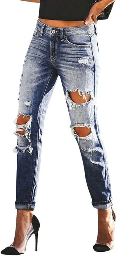 Pantalones De Mezclilla Para Mujer De Wong De Talle Alto Ajustados Elasticos Hasta El Tobillo Ajustados Para Mujer Color Azul Azul Azul M Amazon Es Salud Y Cuidado Personal