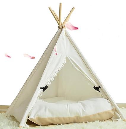 AnGe Teepee para mascota, cama para perros extraíble y lavable Pet Play Tent House para. Pasa ...