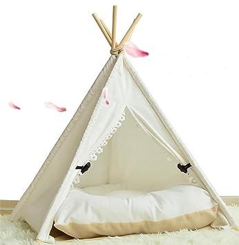 AnGe Teepee para mascota, cama para perros extraíble y lavable Pet Play Tent House para mascota para perro de gato , s: Amazon.es: Deportes y aire libre