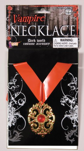 [Gothic Count Dracula Medallion Necklace Choker Costume Vampire Goth [Toy]] (Count Gothic Costumes)