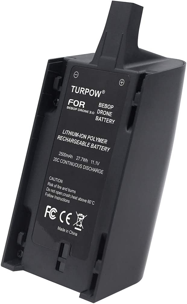 2 Pack POWTREE Bebop 3.0 Battery Li-ion 11.1V 2500mAh Replacement Battery Compatible with Parrot Extended Flight Times for Parrot Bebop Drone 3.0 Quadcopter