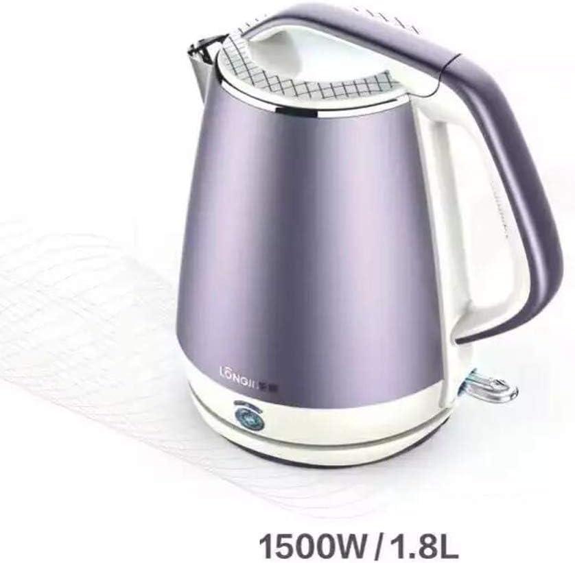 Tetera Caldera, Caldera de Agua/té/café, 1500W, 1.8 litros - función de Aislamiento de una tecla (púrpura)