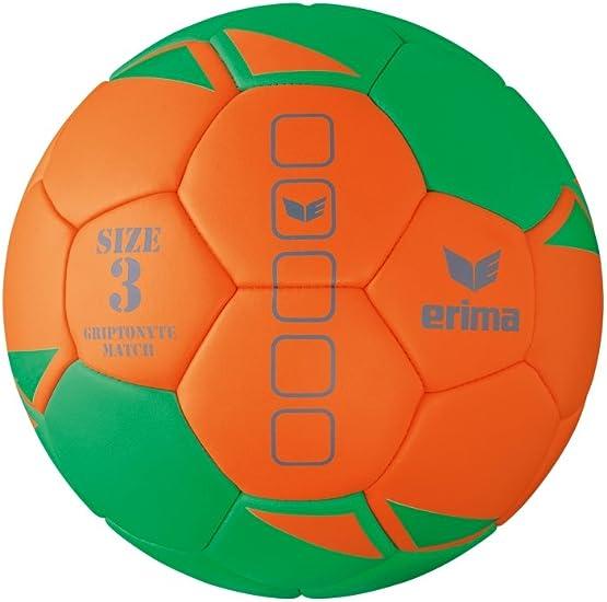 erima gripto nyte Match – Balón de Balonmano, Color Verde/Naranja, tamaño 2: Amazon.es: Deportes y aire libre