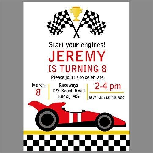 (Race Car or Go Kart Invitation - Race Car Collection)