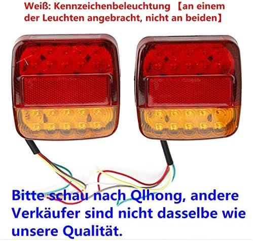 2x 8 Led Rücklicht Anhänger Mit E11 PrÜfzeichen Universal Rückleuchten Heckleuchten Bremsleuchte Blinker Rot Für Hänger Anhänger Lkw Lastwagen Kfz Boot Pkw Trailer Auto