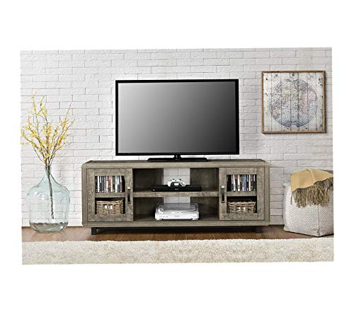 Wood & Style Eastlin TV Console for TVs up to 55in Brown Decor Comfy Living Furniture Deluxe Premium Collection