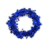 Christmas Party Xmas Tree Ornaments 5m Tinsel Hanging Decorations, LLguz Happy Christmas Xmas Home Decoration Gifts (Blue)
