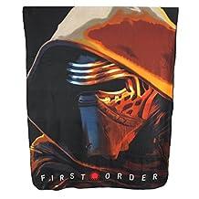 "Disney Star Wars Plush Fleece Throw Blanket Twin 46""x 60""-black"