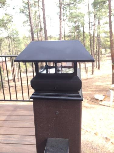 Veranda 4 in. x 4 in. Black Solar-Powered Post Cap for Deck or Fence, Black (12 PACK) by Veranda (Image #7)