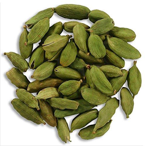 Frontier Co-op Cardamom Pods, Green Whole, Certified Organic, Kosher, Non-Irradiated   1 lb. Bulk Bag   Elettaria cardamomum (L.) Maton