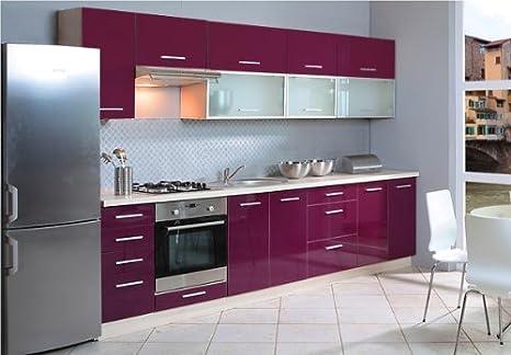 Küchenschrank Hängeschrank 80cm mit Klapptür Glas / Rahmen MDF ...